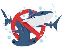 Stop Shark Finning Illustration