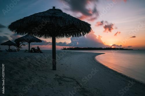 Sunset at Baa Atoll, Maldives Wallpaper Mural