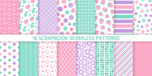 Scrapbook Background, Seamless...