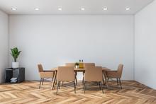 White Minimalistic Dining Room...