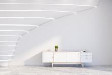 Futuristic White Living Room W...