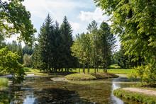 Landscape Park In Pushkin Town, Russia