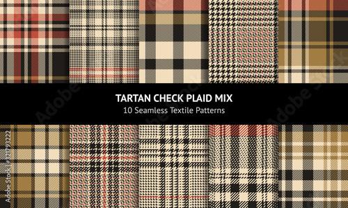 Photo Tartan plaid pattern set