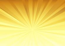放射状の背景(金色)