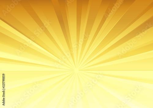 Foto 放射状の背景(金色)