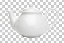 White Porcelain Teapot On Isol...