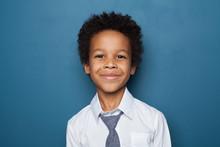Portrait Of Black Kid Boy Pupi...