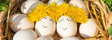 Homemade Eggs With Beautiful F...