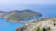 Panoramic view of Asos city in Kefalonia, Greece.