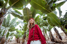 Woman As A Tourist Or Farmer D...