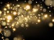 Dust white. Sparkling magical dust particles. Magic concept.
