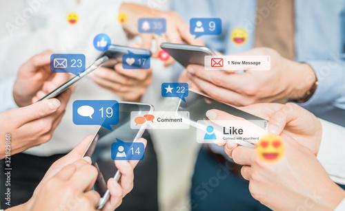 Obraz Social media concept. - fototapety do salonu