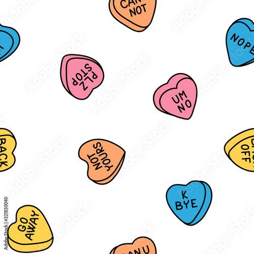 Rude valentine conversation hearts, ironic candy #321830040