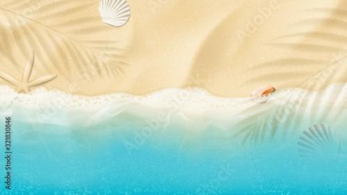 Top view on summer sea beach Canvas Print