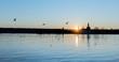 canvas print picture - Sonnenuntergang in Konstanz am Bodensee