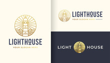 Lighthouse Line Art Logo Design