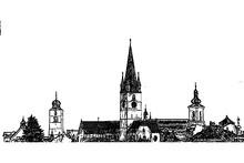 Sibiu, Transylvania, Romania, Cityscape , Three Towers