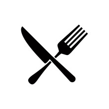 Spoon And Fork Icon Design Vec...