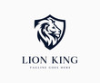 Luxury King Lion Logo Icon Vector Illustration Template