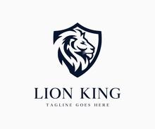Luxury King Lion Logo Icon Vec...