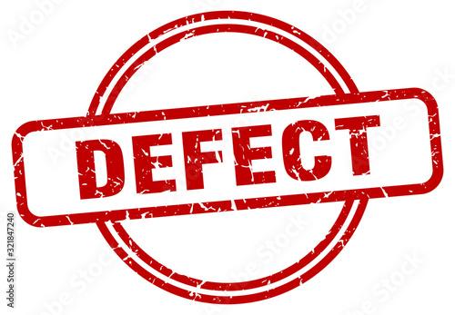 Fotografering defect stamp. defect round vintage grunge sign. defect