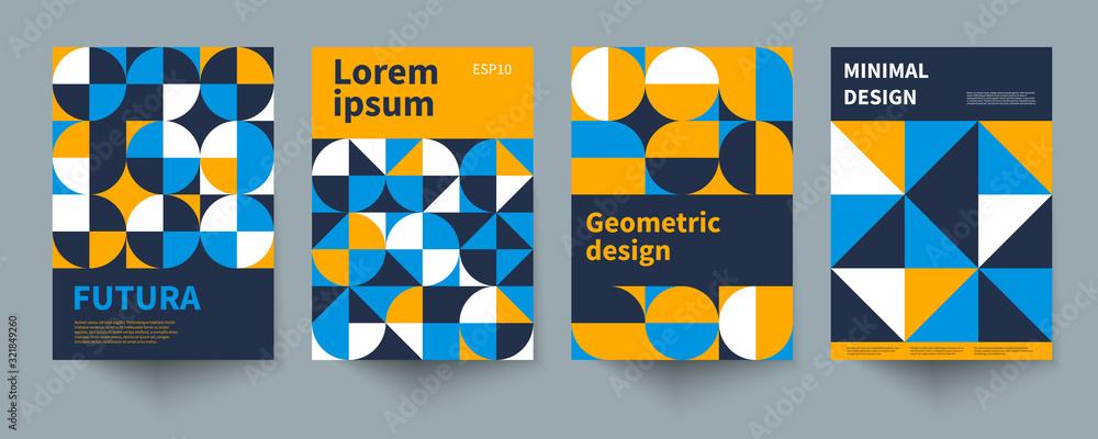 Fototapeta Minimal swiss geometric posters
