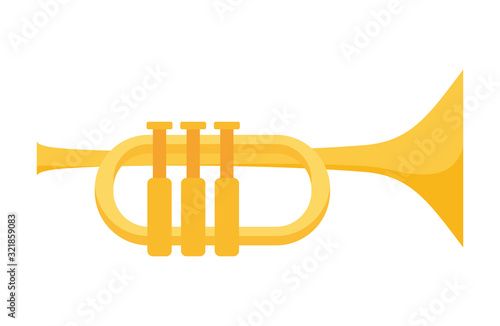 Photo Isolated trumpet instrument vector design