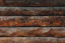Dark Wooden Fence. Shabby Tabl...