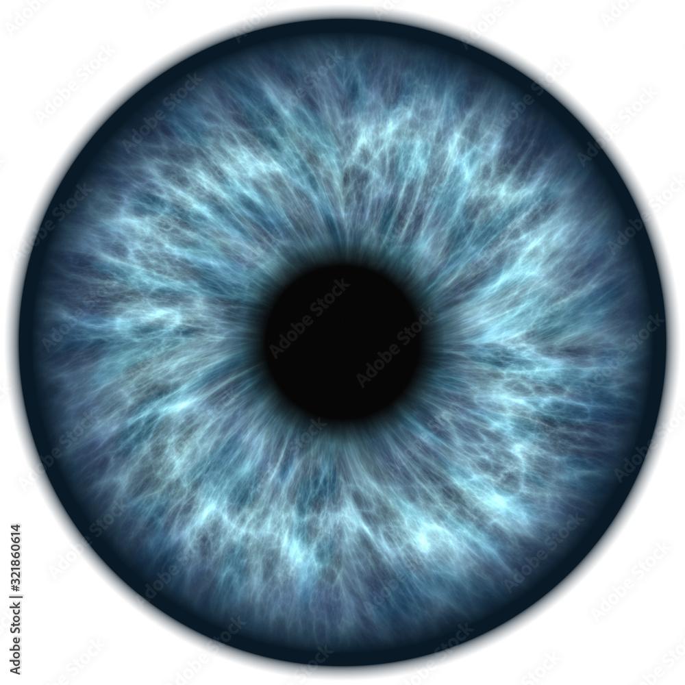 Fototapeta human blue eye iris closeup