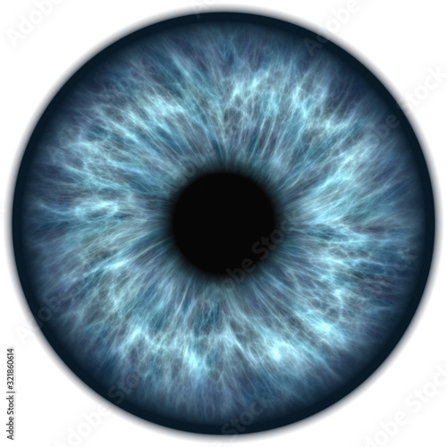 Fototapeta human blue eye iris closeup