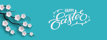 Happy Easter Banner. Holiday C...
