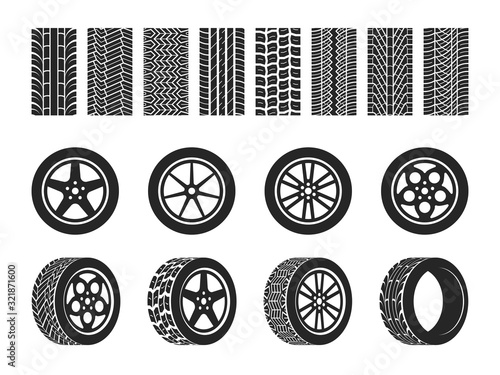 Fotomural Wheel tires