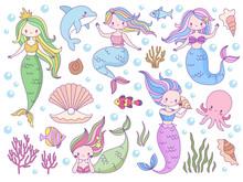 Mermaid. Sea World Little Merm...