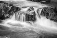 Water Streaming Over Rocks, Sl...