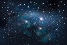 Vector Night Starry Sky Backgr...