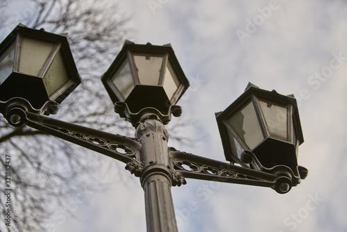 Fototapeta an image of street light on cloudy sky obraz na płótnie
