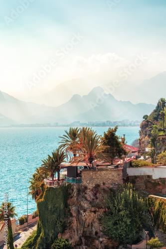Old town Kaleici in Antalya, Turkey - travel background Wallpaper Mural