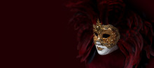 Venice Mask. Italy. Banner.