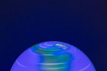 Illuminated Globe Background. ...