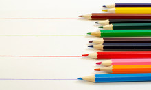 Set Of Colored Pencils And Dra...