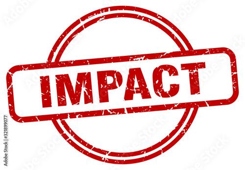 Photo impact stamp. impact round vintage grunge sign. impact