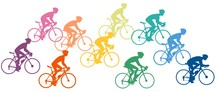 Silhouette Of Bike Racers