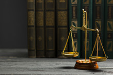 Law Concept - Open Law Book Wi...
