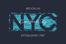 NYC, Brooklyn T-shirt Design W...