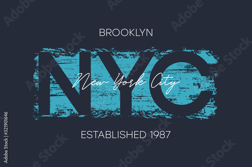 Fotomural NYC, Brooklyn t-shirt design with brush stroke