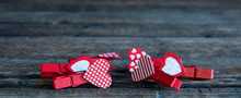 Little Red Clothespins Hearts ...