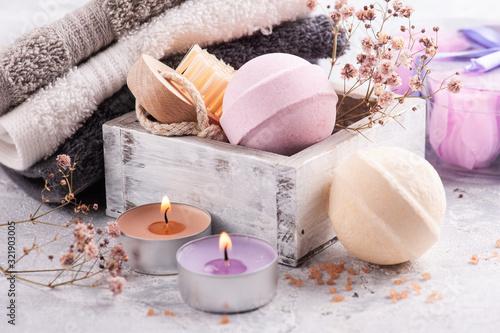 Fotografía Pink vanilla aroma bath bombs