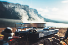 Camping Cooking In Nature Outd...
