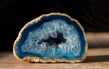 Geode With Transparent Crystal...