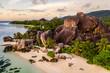 canvas print picture - La Digue, seychelles